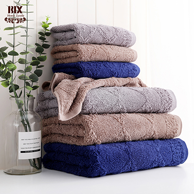 Wholesale Jacquard Xinjiang Long-Staple Cotton Towels Solid Color