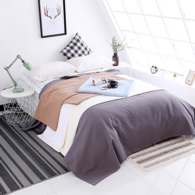 Manufacturer Cotton 3 layers jacquard anti-piling luxury blanket for US