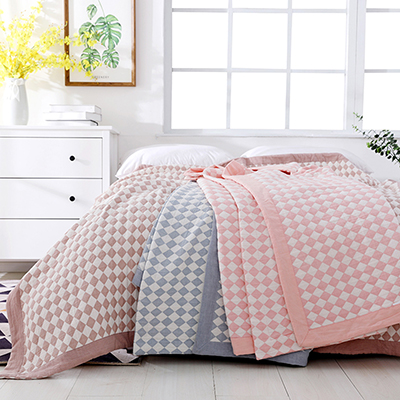 Ultra Soft Lightweight  Decoration geometry design cotton  Bedspread