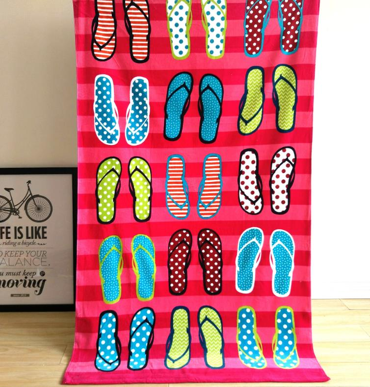 Colorful Design Summer Model Cotton Material Beach Towel